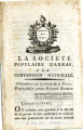 Société populaire D'Arras … [The popular Society Of Arras, to the national Convention. ...