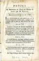 Projet de Déclaration des droits … [Draft of the declaration of the Rights of Men and of Society;...