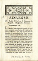 Adresse du Conseil Général de la Commune de Marseille … [Address of the General Council of the...