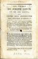 Crimes de Joseph Lebon et de ses agens … [Crimes of Joseph Lebon and his agents, or ideas of the...