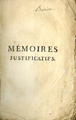 Mémoires Justificatifs de la Comtesse De Valois … [Justificatory Memories of the Countess of...