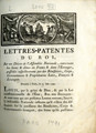 Lettres-patentes du roi, sur un décret … [Letters patent of the King on a decree of the...