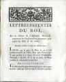 Lettres-patentes du roi … [Letters patent of the King on the decree of the National Assembly...
