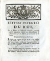 Lettres-patentes du roi … [Letters patent of the king, on a decree of the National Assembly, of...