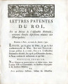 Lettres-patentes du roi … [Letters patent of the king, on a decree of the National Assembly,...