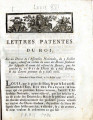 Lettres-patentes du roi … [Letters patent of the king, on a decree of the National Assembly, of 3...