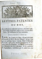 Lettres-patentes du roi … [Letters patent of the king, on the decree of the National Assembly, of...
