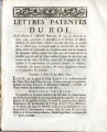 Lettres-patentes du roi … [Letters patent of the king, on the decrees of the National Assembly,...