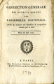 Collection Générale des décrets rendus … [General collection of the decrees returned by the...