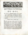 Lettres-patentes du roi … [Letters patent of the king, on the decree of the National Assembly of...