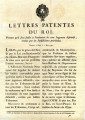 Lettres-patentes du Roi … [Letters patent of the King, bearing that he will stay the execution of...
