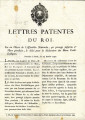 Lettres patentes du Roi … [Letters patent of the king, on a decree of the National Assembly,...