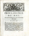Proclamation du roi, concernant les Déclarations … [Proclamation of the king, concerning the...
