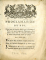 Proclamation du roi, portant que les bannieres … [Proclamation of the king, bearing that the...