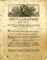 Proclamation du roi, sur le décret de l'Assemblée nationale … [Proclamation of the king, on...