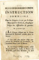 Instruction sommaire pour les citoyens chargés … [Summary instruction for the citizens charged by...