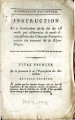 Instruction sur l'exécution de la loi du 23 août … [Instruction on the execution of the law of...