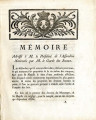 Mémoire Adressé à M. le Président de l'Assemblée nationale … [Memoire Addressed to the President...
