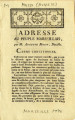 Adresse au Peuple Marseillais par M. Auguste Mossy [Address to the people of  Marseille by Mr....