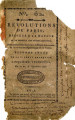 Révolutions de Paris … [Revolutions of Paris, dedicated to the nation and the district of...