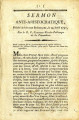 Sermon anti-aristocratique … [Anti-aristocratic sermon, preached far from Brabançons, April 24,...