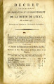 Décret concernant la liquidation  … [Decree concerning the settlement and the repayment of the...