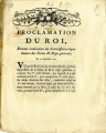 Proclamation du roi, portant nomination des Commissaires-liquidateurs … [Proclamation of the...