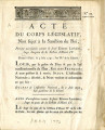 Acte du Corps législatif … [Act of the legislative Body, not subject to the sanction of the king,...