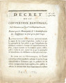 Décret de la Convention nationale, du 8 décembre 1792 … [Decree of the national Convention, of...