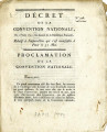 Décret de la Convention nationale, du l.er juin 1793 … [Decree of the national Convention, of...