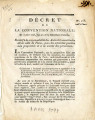 Décret de la Convention nationale, du 5 mars 1793 … [Decree of the national Convention, March 5...