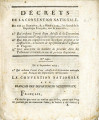 1.º Qui ordonne l'envoi d'une adresse de la Convention nationale … [1.º Which orders the...