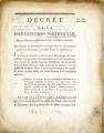 Décret de la Convention nationale, du 10 mars 1793 … [Decree of the national Convention, March 10...