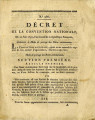 Décret de la Convention nationale, du 10 juin 1793 … [Decree of the national Convention, June...