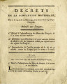 Décret de la Convention nationale, des 11 & 12, 20 & 23 mars 1793 … [Decree of the...