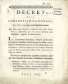 Décret de la Convention nationale, du 11 fevrier 1793 … [Decree of the national Convention,...