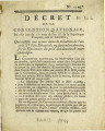 Décret de la Convention nationale… [Decree of the national Convention... of French Republic,...