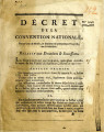 Décret de la Convention nationale, du 17.e jour de Nivôse … [Decree of the national...