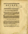 Décrets de la Convention nationale, des 20 & 23 mars 1793 … [Decree of the national...