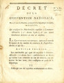 Décret de la Convention nationale, du 23.e jour de brumaire … [Decree of the national...