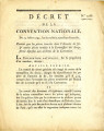 Décret de la Convention nationale, du 23 juillet 1793 … [Decree of national Convention, July 23,...