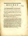 Décret de la Convention nationale, du 26 juillet 1793 … [Decree of the national Convention,...