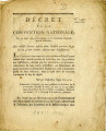 Décret de la Convention nationale, du 30 Août 1793 … [Decree of the national Convention,...