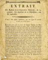 Extrait du bulletin de la Convention nationale, du 24 prairial … [Extract of the bulletin of the...