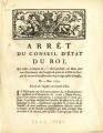 Arrêt du Conseil d'état du roi … [Order of the King's Council, which annuls, beginning the 1st of...
