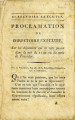 Proclamation du directoire exécutif … [Proclamation of the executive directory, on the events...