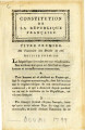 Constitution de la République Française … [Constitution of the French Republic.  First title. ...
