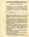 Discours: Prononcé au Roi … [Speech to the King by the Deputation of the Nobility, the Duke of...