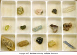 Collection of natural crystals