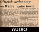 Hearing on the location of the WBST radio rower